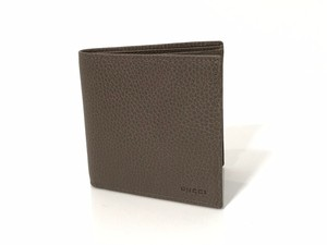 Gucci NEW GUCCI 150413 Men's Leather Bifold Wallet, Grey Field