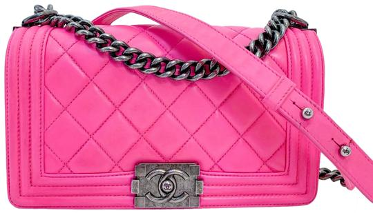 Chanel Boy Hot Pink Lambskin Leather