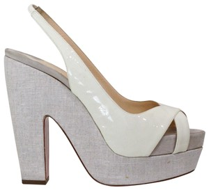 616037768875 White Christian Louboutin Pumps - Up to 90% off at Tradesy