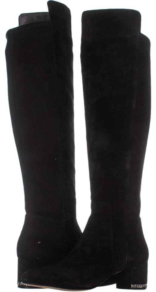 06dc6188e5a Nine West Black Owenford Wide Calf Flat Knee-high Riding 077 Black/Bl  Boots/Booties Size US 8 Regular (M, B) 58% off retail