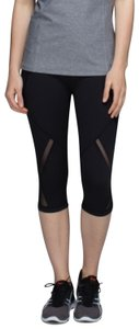 Lululemon Lululemon Black Cool To The Street Crop Mesh Leggings
