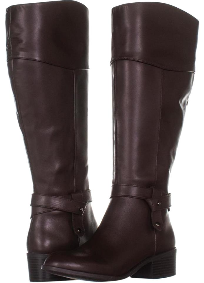 53ddb600f4a Brown Berniee Wide Calf Riding 024 Cold Brew Boots/Booties Size US 7  Regular (M, B) 51% off retail