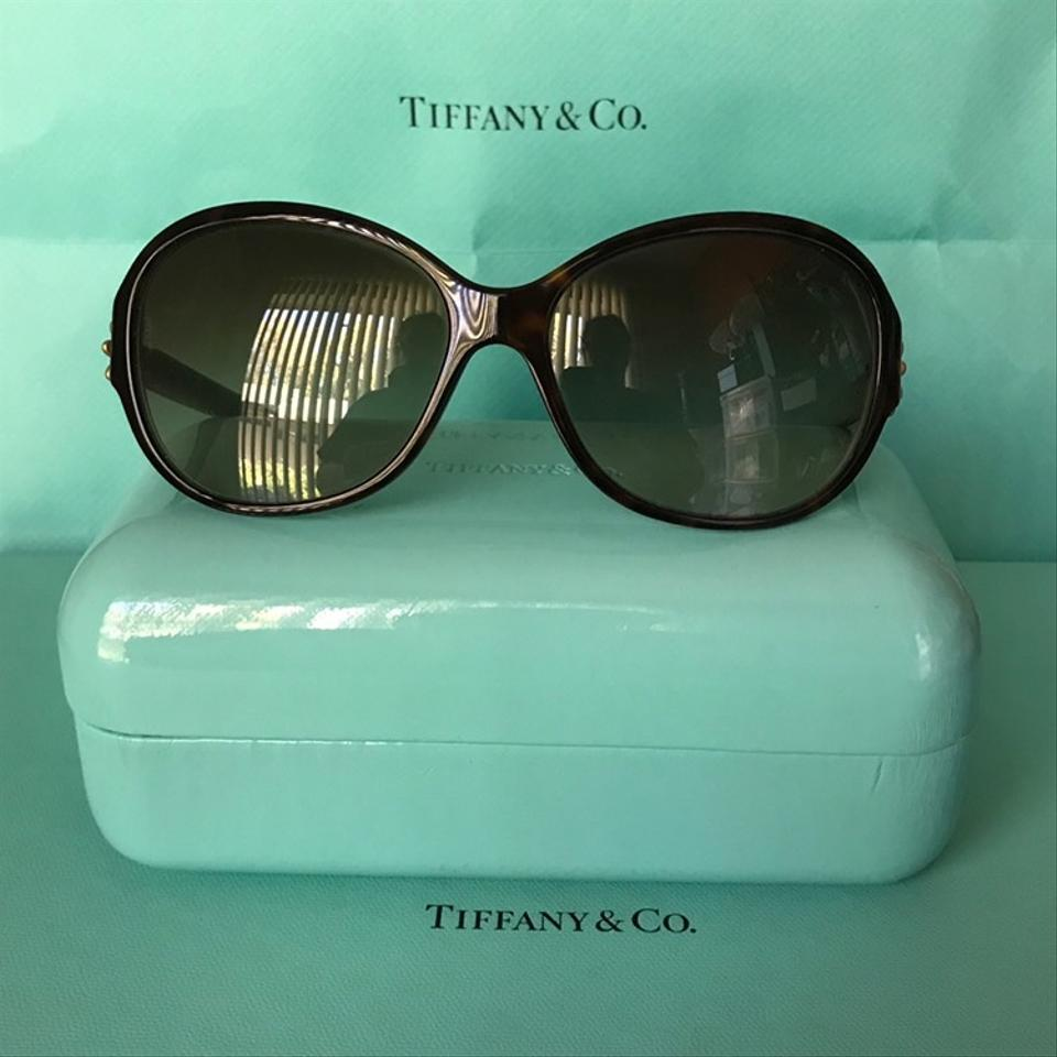 a0e45f09c426 Tiffany   Co. Tortoise Brown Blue Frames with Gold Daisy Flower W  Crystals  Tf4068 W Case Sunglasses - Tradesy