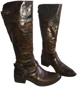 682b7b05ddf Ecco Metallic Hardware Unique Knee-high Crisscross Strap Moon Rock Boots