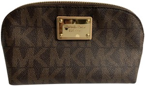 Michael Kors Michael Kors Jet Set Large Cosmetic Pouch Case Brown Signature
