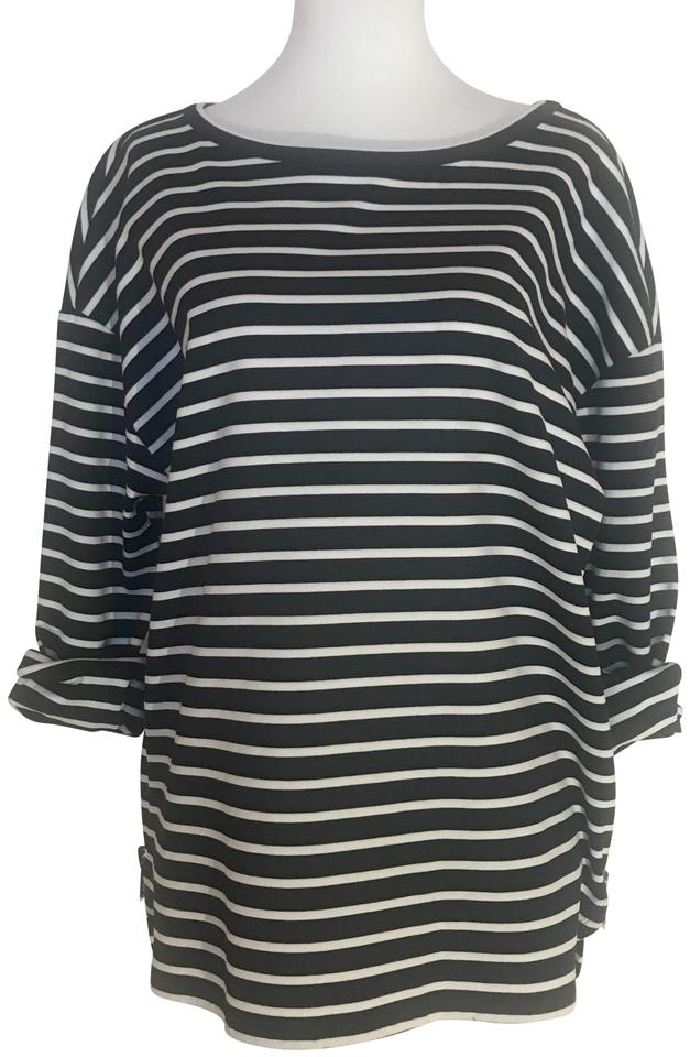 f32a9f18daa2a Nordstrom Navy Blue and White Breton Striped Signature Tee Shirt Size 4 (S)  75% off retail