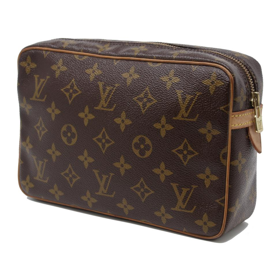 64dcfeea1c5e Louis Vuitton Compiegne Monogram Coated Canvas 23 Toiletry Kit Brown Leather  Weekend Travel Bag - Tradesy