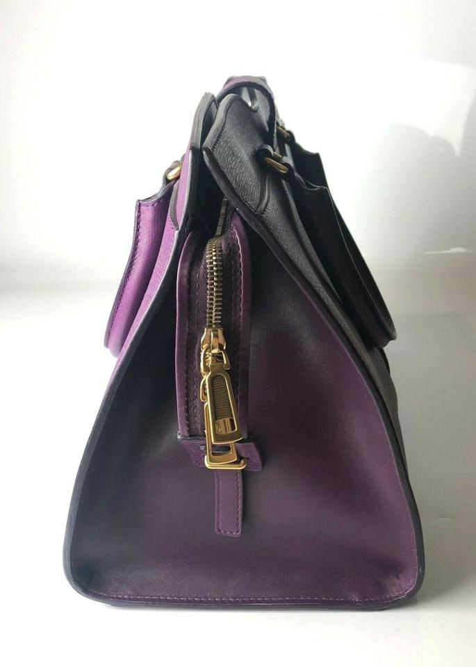 890569a241 Saint Laurent ChYc Yves Ysl Cabas Saffiano Medium Purple Leather ...