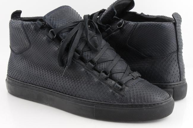 Item - Black Python Arena High-top Sneakers Shoes