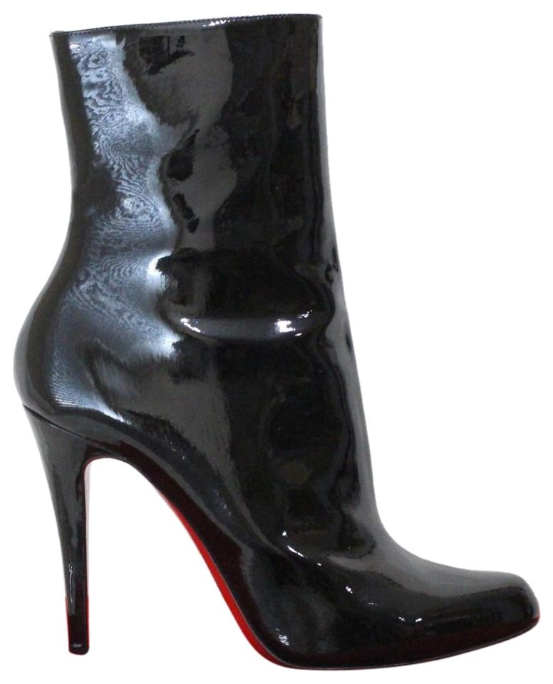 af10ad2cdaf4 Christian Louboutin Black Decollete Patent Leather Ankle Boots ...