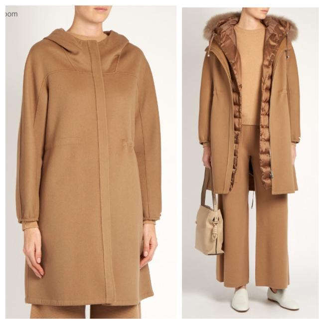 Item - Camel S'maxmara Hooded Jacket Coat Size 4 (S)