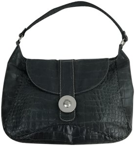 Donald J. Pliner Embossed Western Exotic Hobo Bag