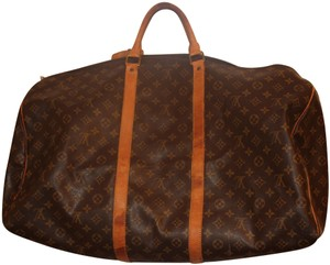 Added to Shopping Bag. Louis Vuitton brown Travel Bag. Louis Vuitton  Keepall 50 Duffel Monogram Vintage Brown Leather ... 8021db9d087f2