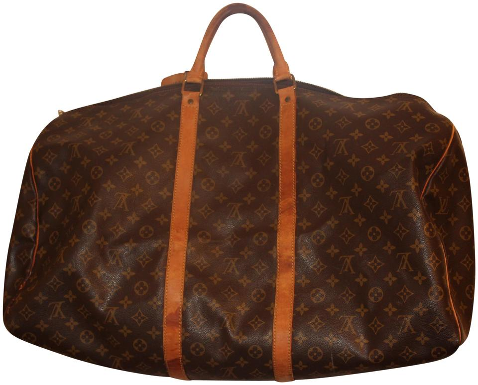 Louis Vuitton Keepall 50 Duffel Monogram Vintage Brown Leather ... 482a983c39c46