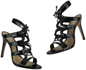 f62d91d6a711 SCHUTZ High Heels Lace Up Cut Out Night Out Cage Black Sandals