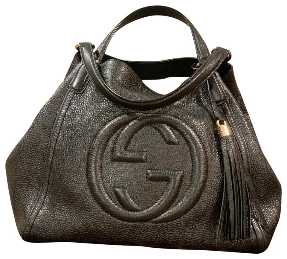 29c3adcbf Gucci Soho Medium Black Hobo Bag - Tradesy