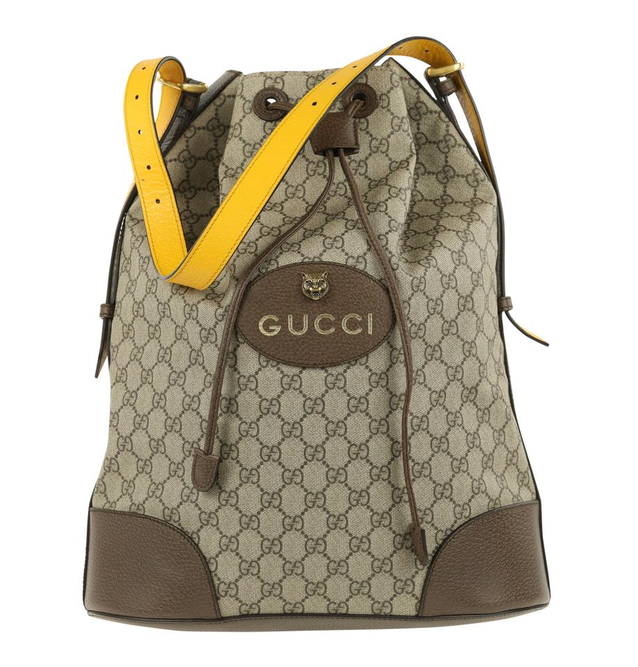 a97bf86f0 Gucci Gg Supreme Convertible Beige Coated Canvas Backpack - Tradesy