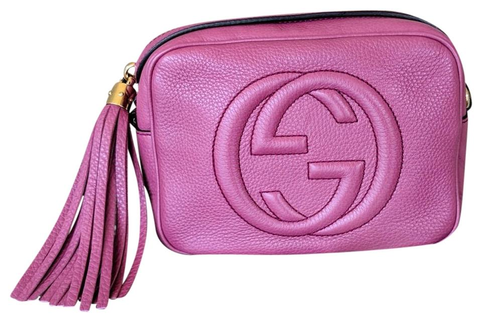 e8e86f4ab5d Gucci Soho Disco Dusty Pink Rose Leather Cross Body Bag - Tradesy