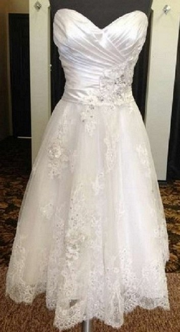 Item - Ivory/Pewter Accents Valencia Organza New-maggie Sottero-isadora Ann Casual Wedding Dress Size 10 (M)