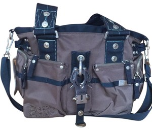 George Gina & Lucy Tote in brown with navy