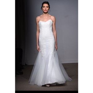 Anna Maier ~ Ulla Maija Strapless Lace Embellished Tulle Gown Formal Wedding Dress Size 10 (M)