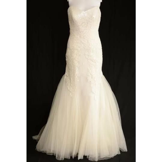 Anna Maier ~ Ulla Maija Strapless Lace Embellished Tulle Gown Formal Wedding Dress Size 10 (M) Image 1