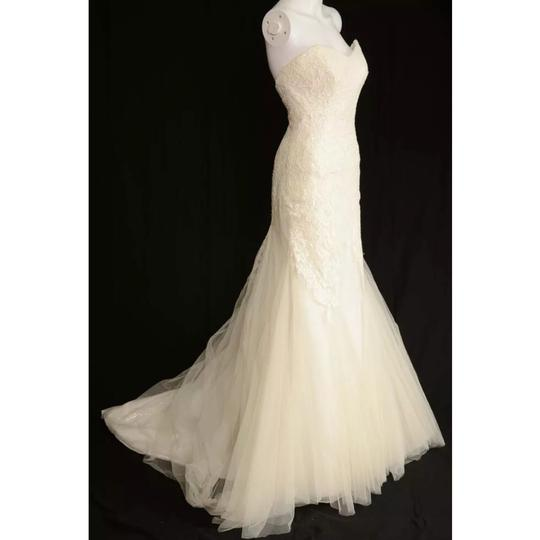 Anna Maier ~ Ulla Maija Strapless Lace Embellished Tulle Gown Formal Wedding Dress Size 10 (M) Image 2