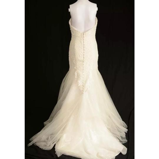 Anna Maier ~ Ulla Maija Strapless Lace Embellished Tulle Gown Formal Wedding Dress Size 10 (M) Image 3