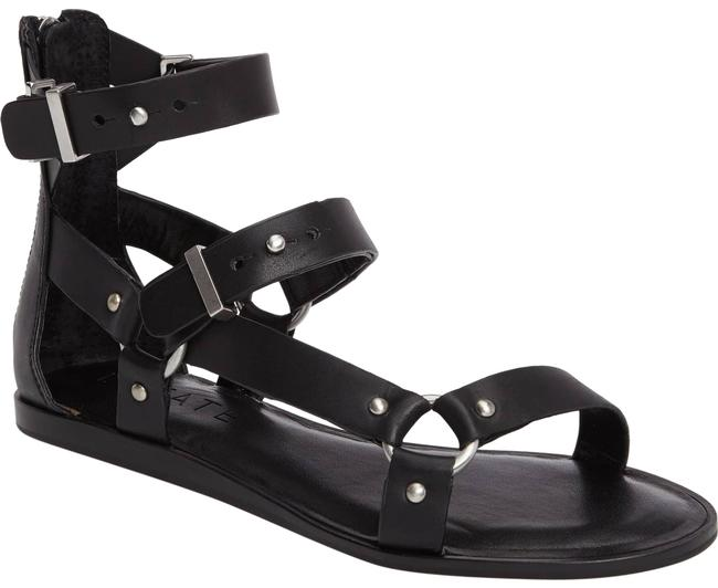 Item - Black O Ring Gladiator Channdra Sandals Size US 6.5 Regular (M, B)
