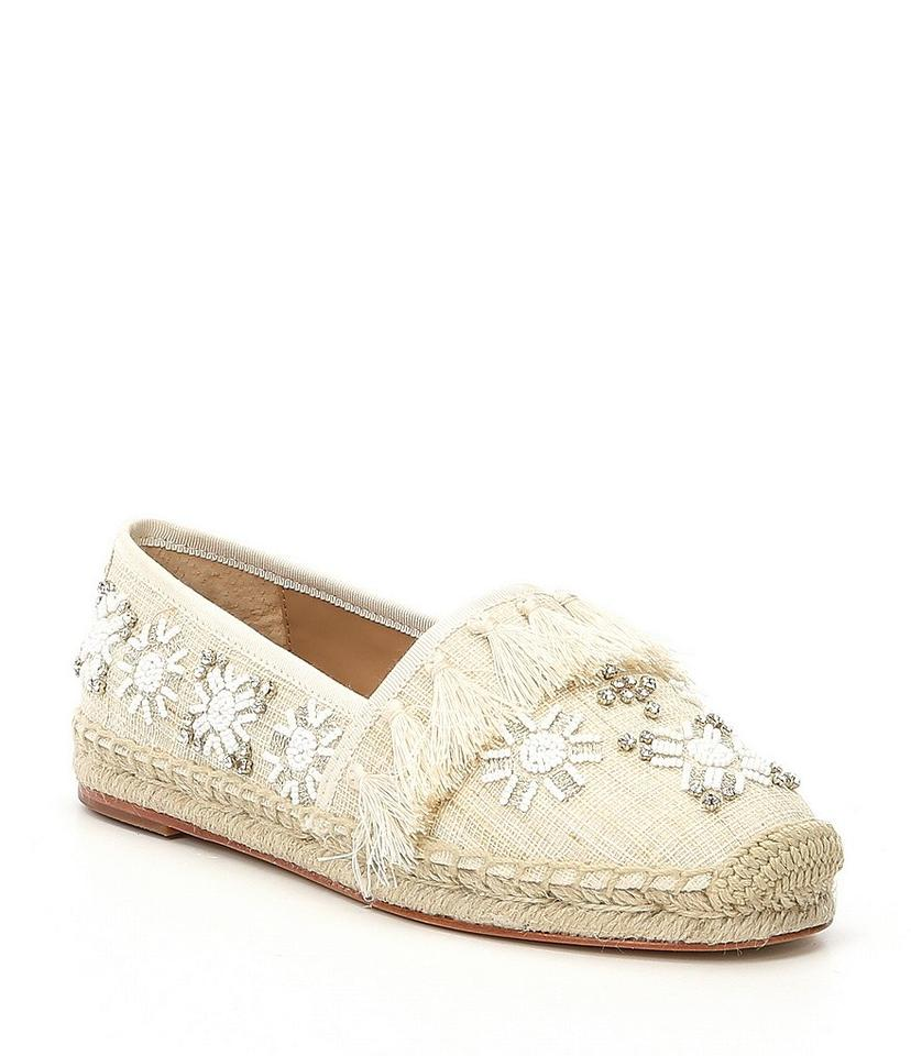 876bd2122e5 Antonio Melani Cream Dacora Beaded Espadrille - Sandals Size US 8 Regular  (M, B) 9% off retail