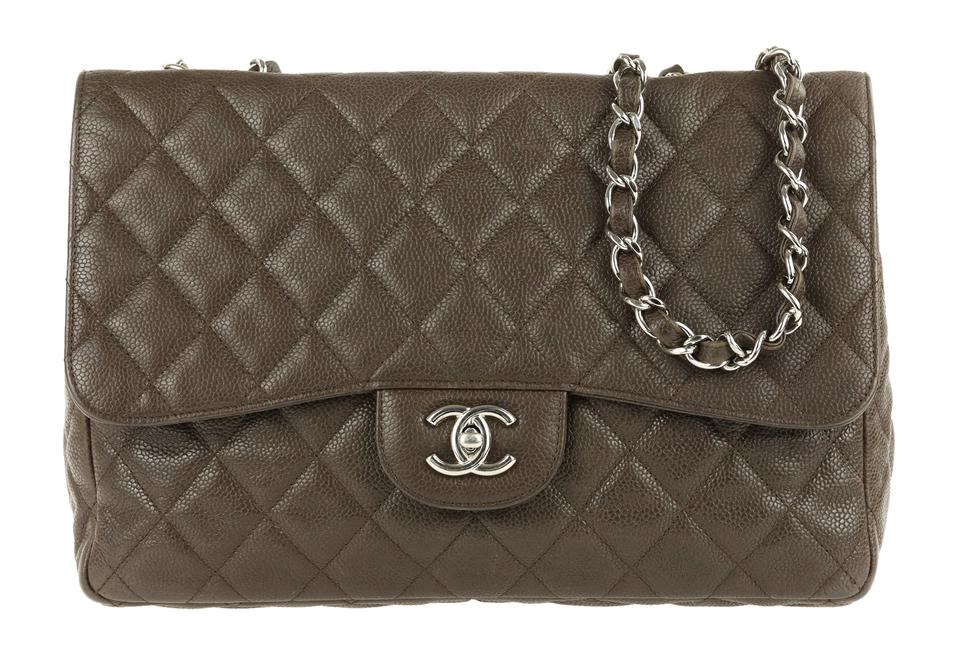 d05044d1848e Chanel Classic Flap Jumbo Brown Leather Shoulder Bag - Tradesy