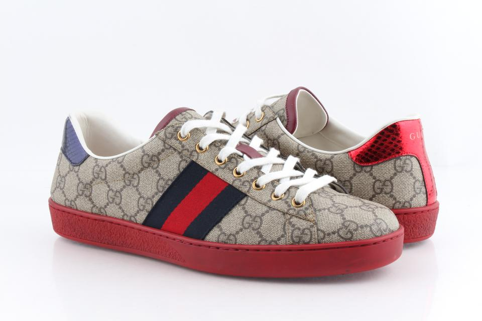 556c89270 Gucci Multicolor Ace Gg Supreme Low-top Sneakers Shoes Image 0 ...