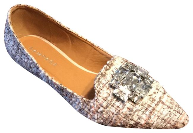 Item - Cream Plaid Coolsie Flats Size US 9 Regular (M, B)