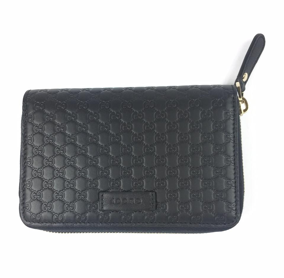 af92f77791181f Gucci Black Gg Microguccissima Leather Zip Around #449423 Wallet ...