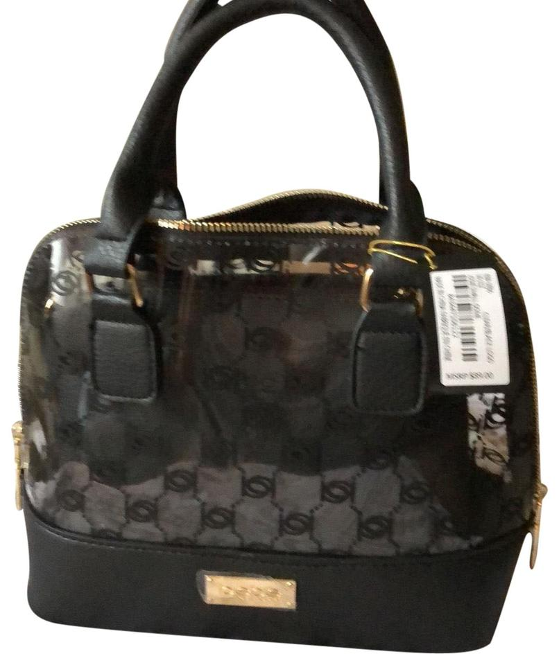bebe Jodie Small Dome Black and Clear Satchel - Tradesy 88ad890eff525