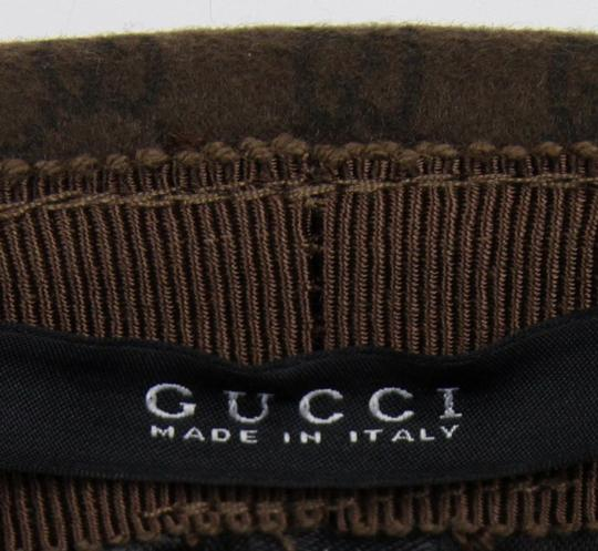 Gucci New Brown Wool Fedora Hat w/Light Gold Plaque Logo Size XL 322289 2366 Image 6