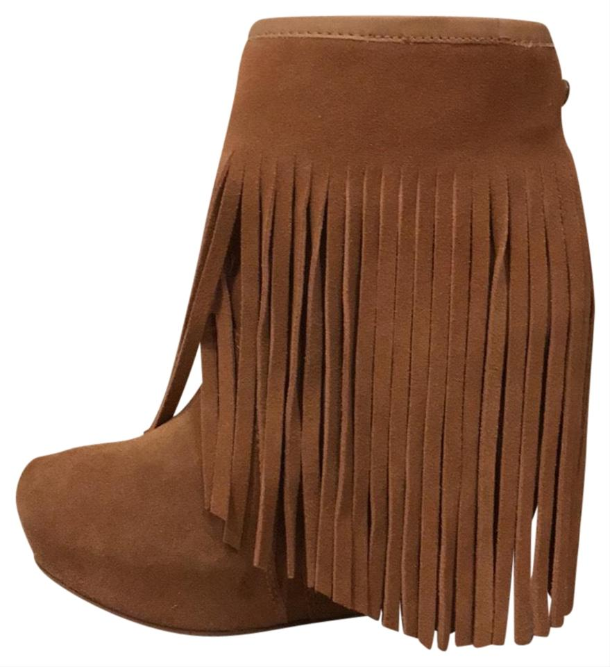 1a6ff4b7d2ae Koolaburra Brown Fringe Wedge Boots Booties Size US 6 Regular (M