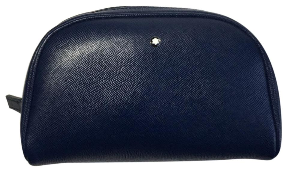 a7d050373dff Montblanc Blue Sartorial Vanity Cosmetic Bag - Tradesy