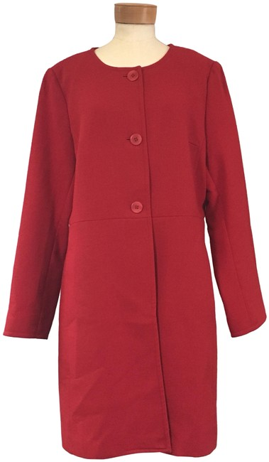 Item - Red Cocoon Coat Size 14 (L)