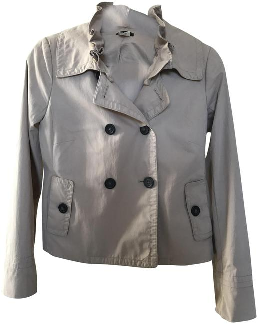 Item - Tan W Peacoat W/Ruffle Collar (Detachable) Jacket Size 2 (XS)