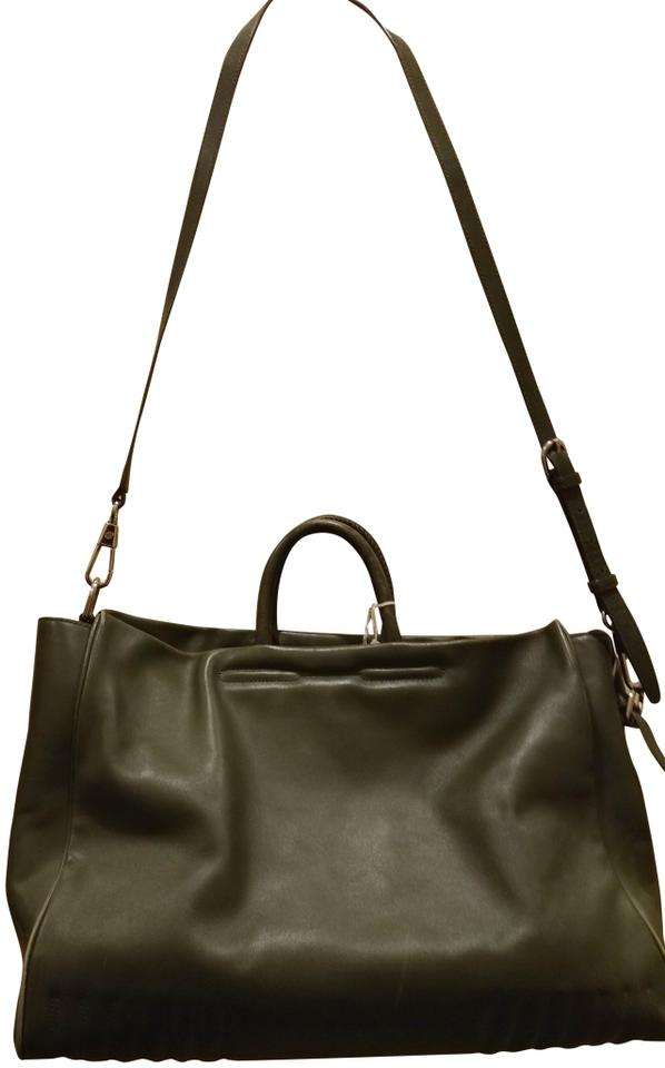 10281e4bb 3.1 Phillip Lim Large Tote with Shoulder Strap Dark Green Leather ...