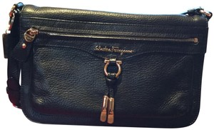 Salvatore Ferragamo Bessy Nero Shoulder Bag