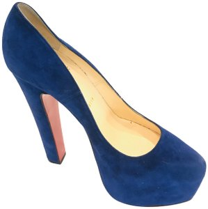 59f1f9bd1832 Blue Christian Louboutin Pumps - Up to 90% off at Tradesy
