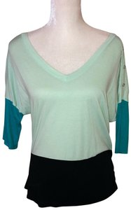 Express Top Black, mint and dark teal