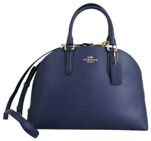Coach Satchel in Cadet Blue/Gold