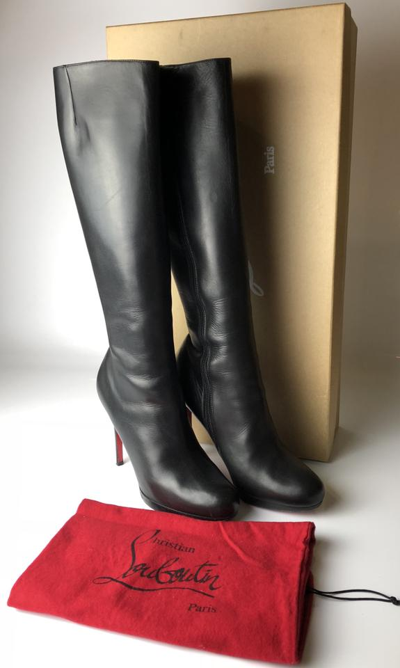outlet store 10b5e 2674e Christian Louboutin Black Botalili 120 Calf Leather Boots/Booties Size EU  39.5 (Approx. US 9.5) Regular (M, B) 37% off retail