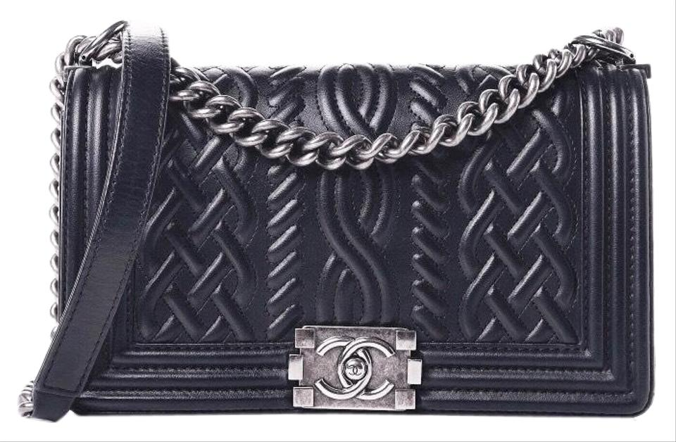 6c97413a21ea Chanel Boy Classic Flap Old Medium Celtic Navy Gray Ghw Blue ...