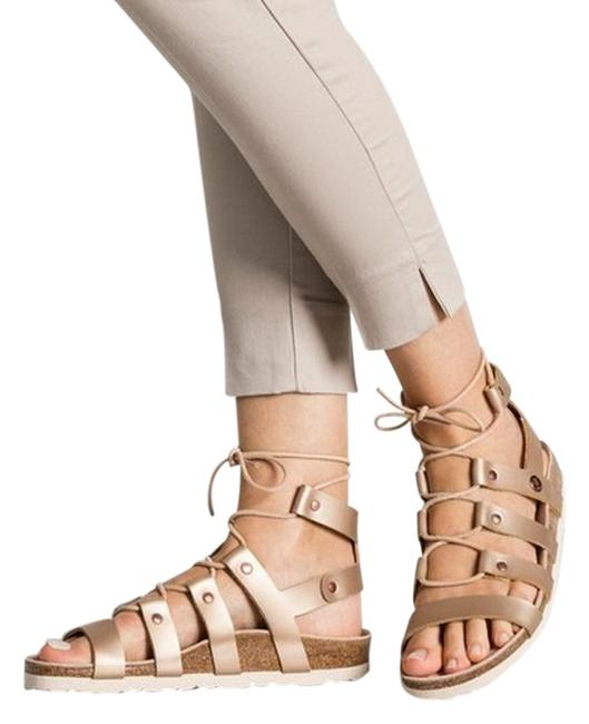 Item - Frosted Metallic Rose Cleo Sandals Size EU 38 (Approx. US 8) Narrow (Aa, N)
