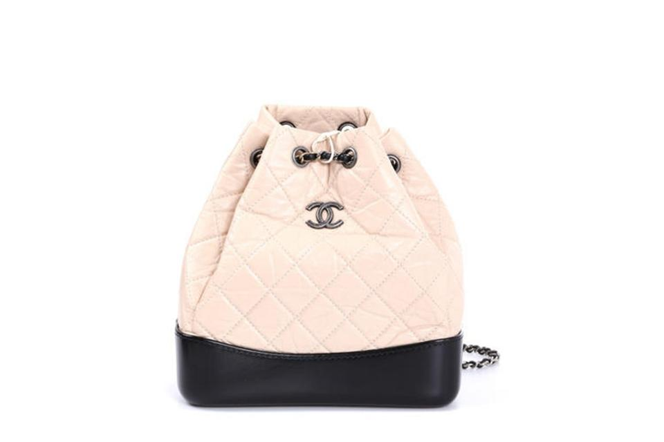 Chanel Gabrielle Nudy Calfskin Leather Backpack 31936e3ccf9ac