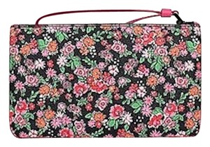 Coach Leather Rose Meadow Wristlet in Pink Multi